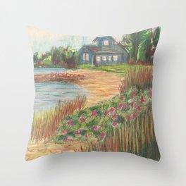 Beach House 2 Throw Pillow
