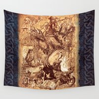 medieval Wall Tapestries featuring Medieval by TheMagicWarrior