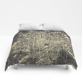 Minneapolis Map Comforters