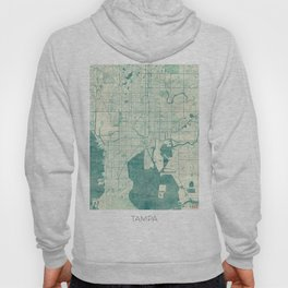 Tampa Map Blue Vintage Hoody