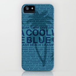 Summer Words Poolside and Palm Tree Hawaiian Graphic Design iPhone Case