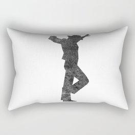 Flamenco Male Dancer Black Distressed Rectangular Pillow