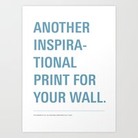 inspiration Art Prints featuring Inspiration. by Oli Phillips
