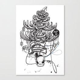 Xmas Greeting Canvas Print
