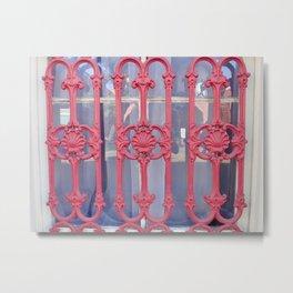 Nola red iron Metal Print