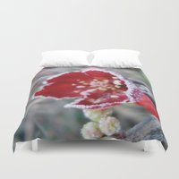jack frost Duvet Covers featuring Flower in Frost by Nightmare Paradise