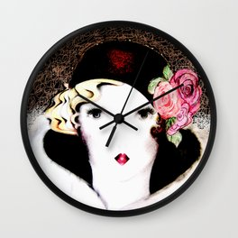 art deco dolly,,,house of harlequin Wall Clock