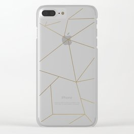 Golden Crystal Web Pattern Clear iPhone Case