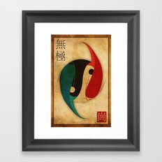 The Infinity Fish Framed Art Print
