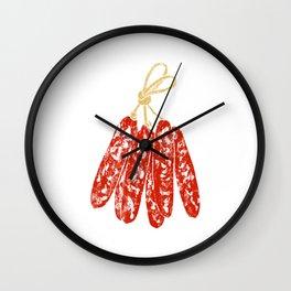 Illustration of hanging Chinese sausage Wall Clock
