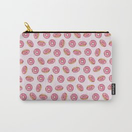 Strawberry Donuts on Pink Carry-All Pouch