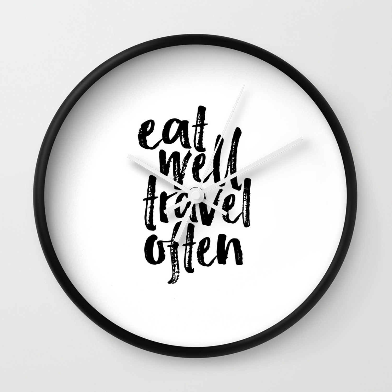 photo regarding Printable Quotes About Life known as Take in Effectively Push Generally Print Printable Wall Artwork Push estimate Daily life Prices Revolutionary Wall Artwork Motivational Wall Clock