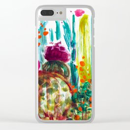 Cabana Plants Clear iPhone Case
