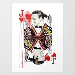 James Bond of Hearts Art Print