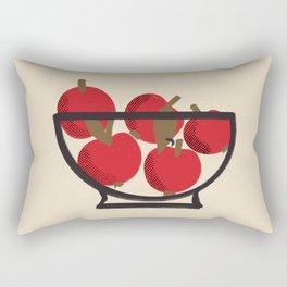 Modern Still Life with Red Apples Rectangular Pillow