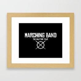 Marching Band Rocks Framed Art Print