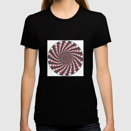 Red and Black Multi spiral T-shirt