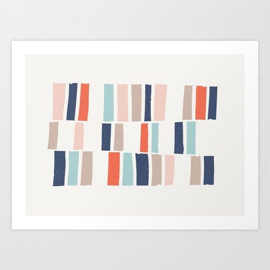 Stacking Blocks Art Print