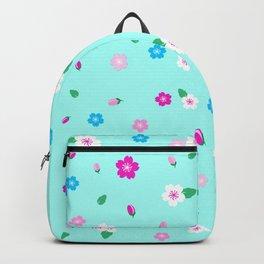 Cherry Blossom Garden - Mint Backpack