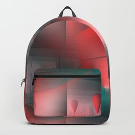 mirrored globs red and green Backpack