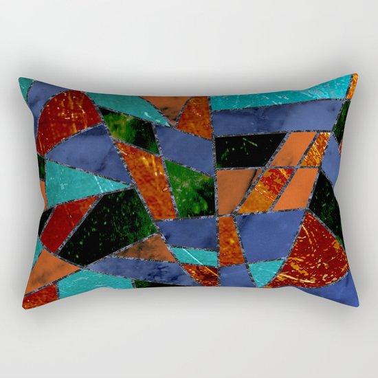 Abstract #447 Lava Flow Rectangular Pillow