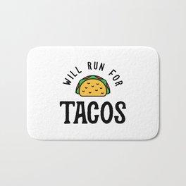 Will Run For Tacos v2 Bath Mat