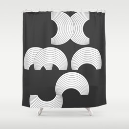 Xmas Typo Black #society6 #decor #buyart Shower Curtain