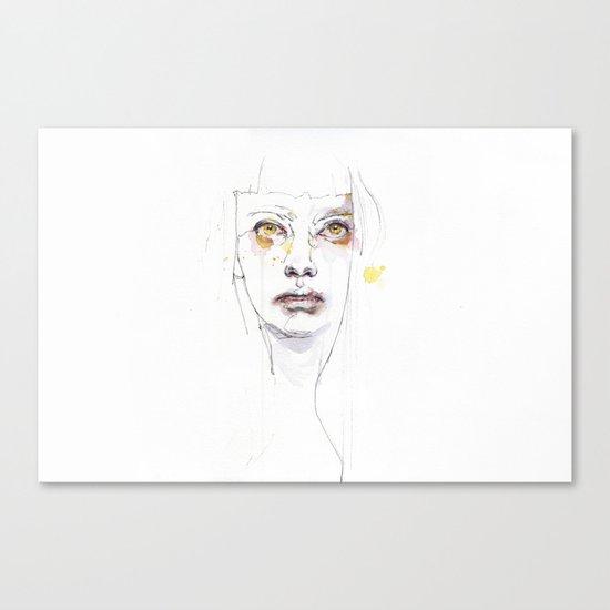 Golden eyes girl Canvas Print