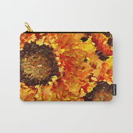 Sunflowers Abstracted Carry-All Pouch