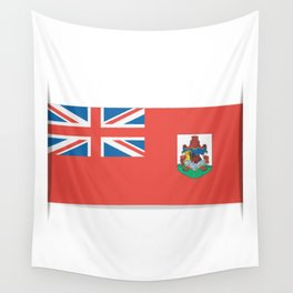 Flag of Bermuda. The slit in the paper with shadows. Wall Tapestry