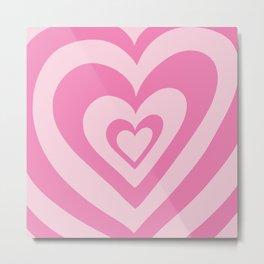 Love Power - simple pink Metal Print
