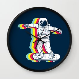 Spaceboarding Wall Clock
