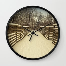 winter in turkey foot park Wall Clock