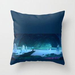 Runestone Lake Throw Pillow