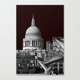 St Pauls Cathederal, London. B&W Canvas Print