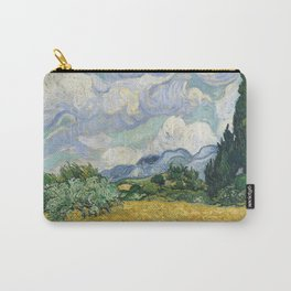 Wheat Field with Cypresses by Vincent van Gogh Carry-All Pouch