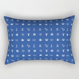 Blue Small & Nautical Rectangular Pillow