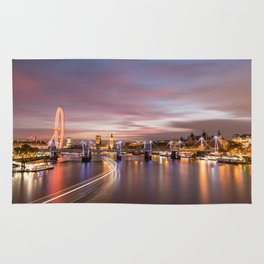 On the Thames - London Rug