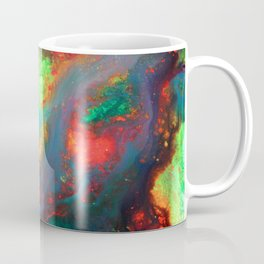 """Titan"" Mixed media color on canvas, abstract painting red blue green yellow contemporary art Coffee Mug"