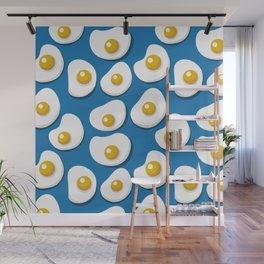 Fried eggs food pattern Wall Mural