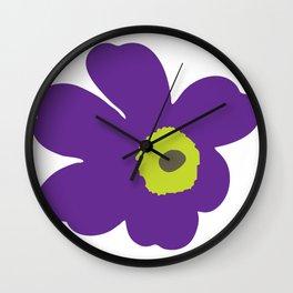 Popy coquelicot Wall Clock