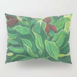 Aralia Leaf, Leaves and Orchids, Floral Pastel Pillow Sham