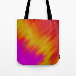Colorful abstract ikat brushstrokes pattern Tote Bag
