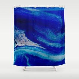 Blue Inlet Shower Curtain
