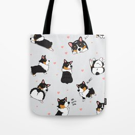 Tri Cute as Hecc Hearts Tote Bag