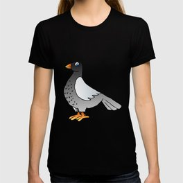 cartoon pigeon. T-shirt