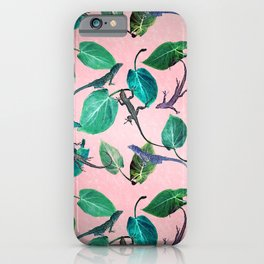 Mayfair Lizards and Leaves iPhone Case
