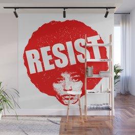 Angela Davis - Resist (red version) Wall Mural