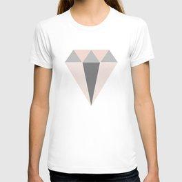 Geometric Diamond in Pink and Gray T-shirt