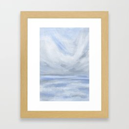 Unclear - Moody Gray Ocean Seascape Framed Art Print